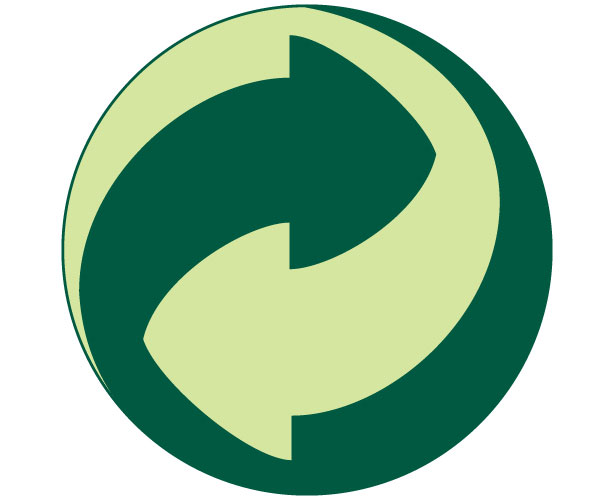 Mẫu thiết kế logo hình tròn của Der-Grune-Punkt