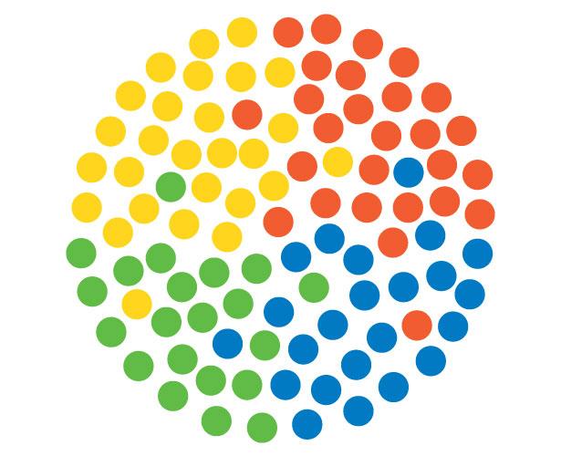 Mẫu thiết kế logo hình tròn của Indra