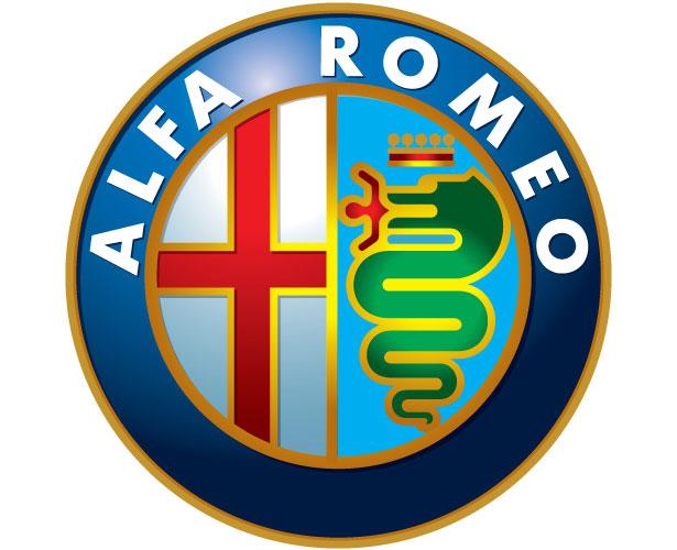 Mẫu thiết kế logo hình tròn của alfa-romeo