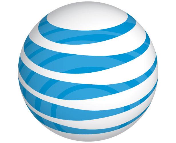 Mẫu thiết kế logo hình tròn của at&t