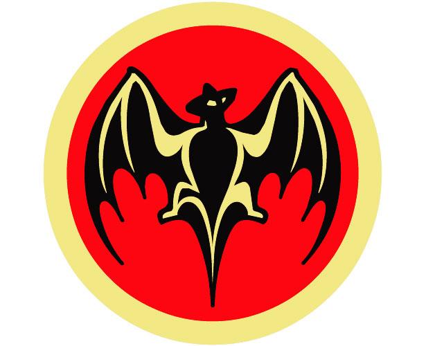 Mẫu thiết kế logo hình tròn của bacardi