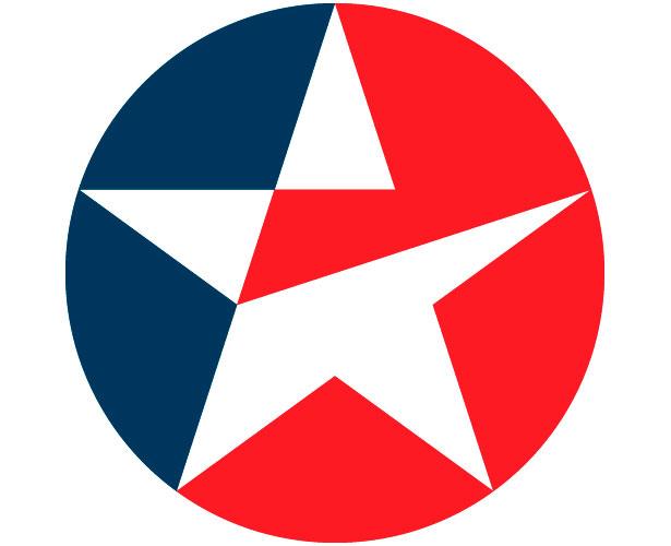 Mẫu thiết kế logo hình tròn của caltex