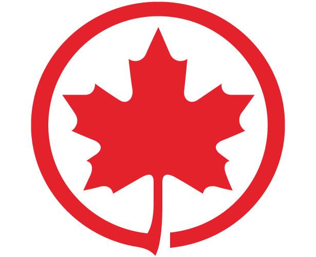 Mẫu thiết kế logo hình tròn của Air Canada