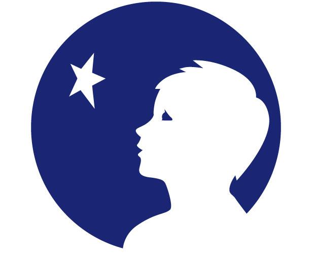 Mẫu thiết kế logo hình tròn của danone