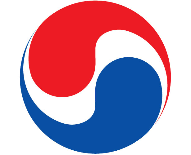 Mẫu thiết kế logo hình tròn của korean-air