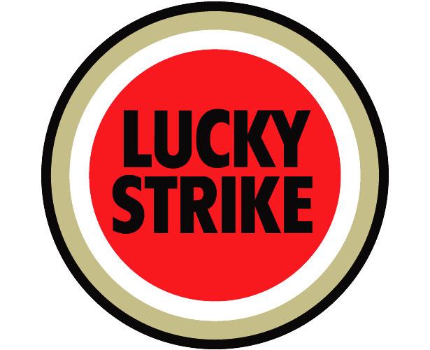 Mẫu thiết kế logo hình tròn của lucky-strike