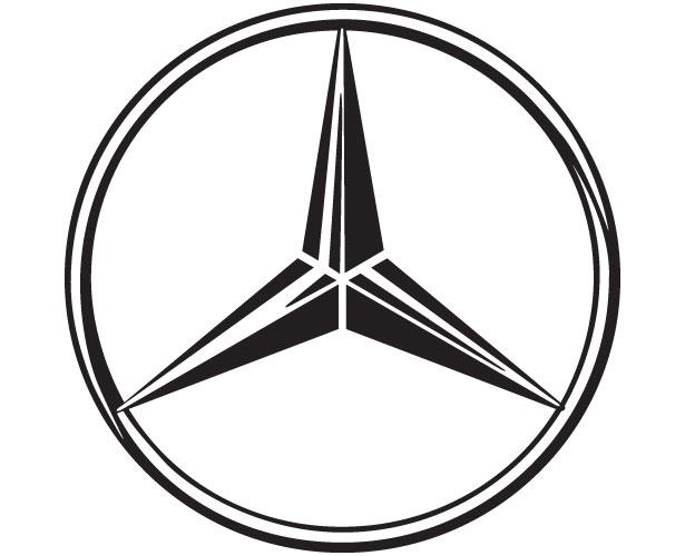 Mẫu thiết kế logo hình tròn của mercedes