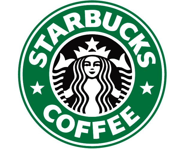 Mẫu thiết kế logo hình tròn của starbucks