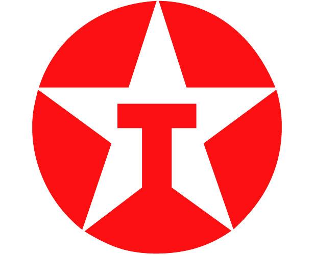 Mẫu thiết kế logo hình tròn của texaco