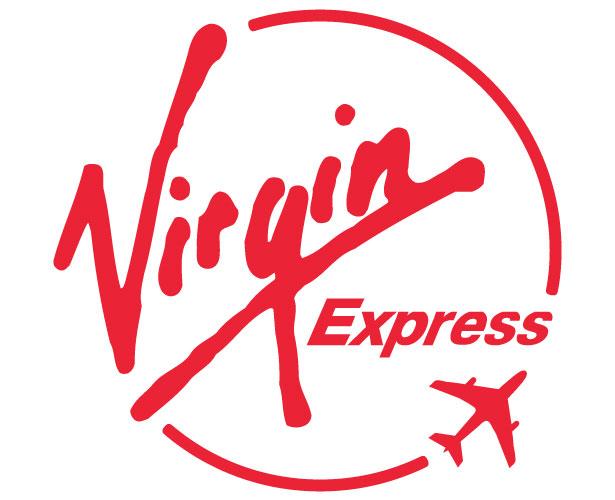 Mẫu thiết kế logo hình tròn của virgin-express