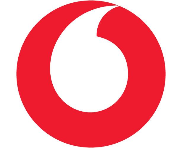 Mẫu thiết kế logo hình tròn của vodafone