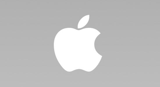 Mẫu thiết kế logo tả thực - thương hiệu Apple