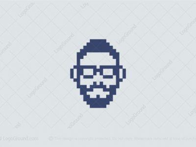 Bộ sưu tập logo được tạo bởi các điểm ảnh (pixel) và mã lệnh (code)