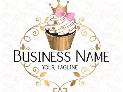 Thiết kế logo mang biểu tượng bánh Cupcake dễ thương
